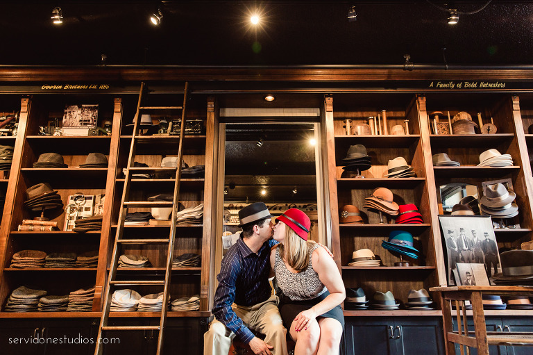 22abe3baba70a Hat Shop Engagement Session